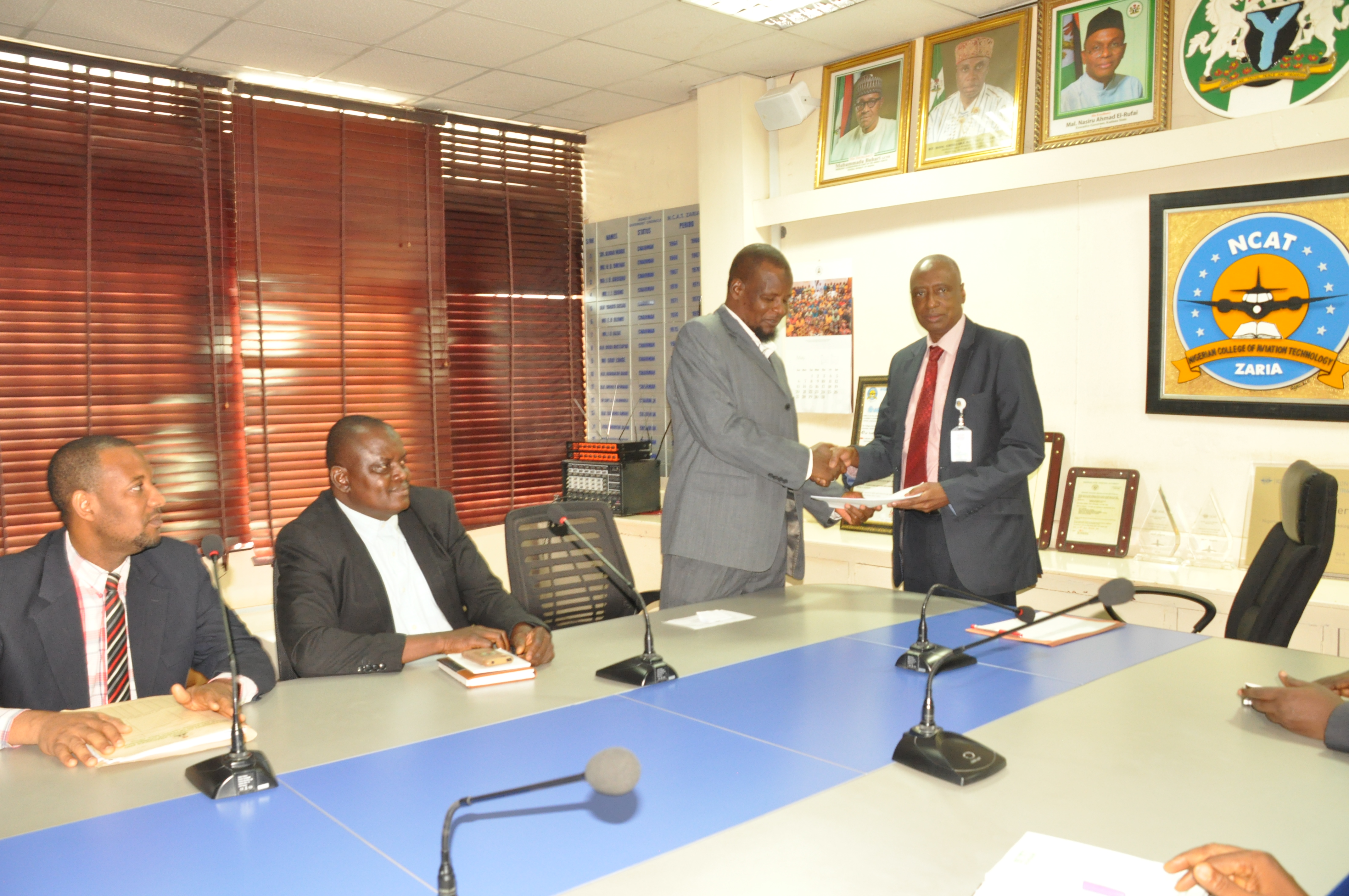 ICPC Zonal Commissioner visit NCAT, Rector.